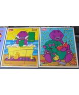 Barney Playskool Wooden Puzzles Vintage 1993 2 Puzzlees - $15.99