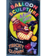 Balloon Sculpture w Tricky the Clown VHS How To Educational Crafts Magic... - $12.95