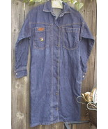 Bills Tincans Casual Denim Dress Embroider Parrot 8 100% Cotton Long Sleeve - $15.00