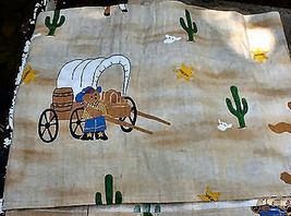 Child's Western Bear Long Curtain Valance Richloom Gear Kids 1991 - $12.00