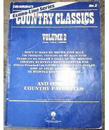 Columbia Econo-line Series Country Classics Songbook Vol 2 1985  Piano/V... - $12.99