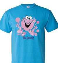 Mr. bubble t shirt free shipping retro 1980 s 70 s cotton blend heather blue tee thumb200
