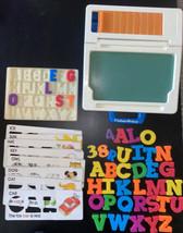 Fisher-Price Toys School Days Desk Chalkboard Magnetic Letters, Stencils... - $30.40
