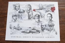 CENTRAL OHIO'S TUSKEGEE AIRMEN AUTOGRAPH PRINT Pilot African B-25 P-51 M... - $44.50