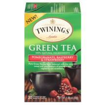 Twinings Green Tea Pomegrante Raspberry and Strawberry 20 Count - $9.49