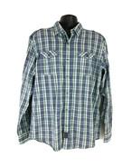 Sean John Tailored Fit Plaid Button Down Shirt - Size XXL - $15.51