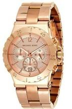 Michael Kors MK5314 Dylan Rose Gold Dial Chronograph 45mm Women's Watch - $98.00