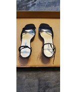 WOMENS CAPARROS BLACK SATIN AND SEQUINS SANDALS - SIZE - 8.5B - $35.00