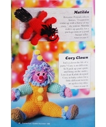 Crochet Fun Back Issue Cory Clown Crochet Pattern Leaflet 1988   Number 7 - $6.50