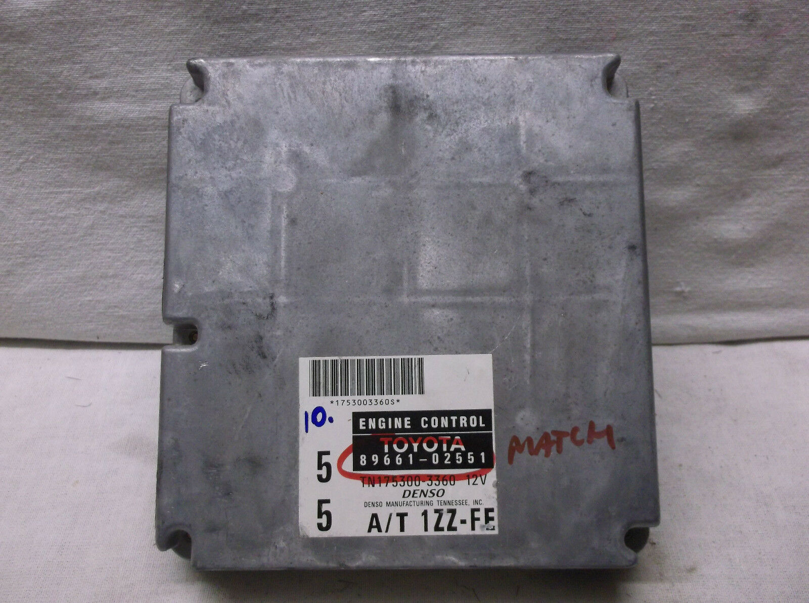 Primary image for 1999..99 COROLLA  1.8L AUTO/3 SPEED   ENGINE CONTROL MODULE/COMPUTER.ECU.ECM.PCM