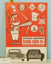 1963 Cleveland Indians Baseball Program v Twins Unscored A.L. Teams Logo... - $17.33