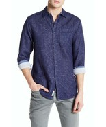 NEW HERITAGE REPORT COLLECTION NAVY SLIM FIT CERAMIC TILE SHIRT SIZE L - $30.32