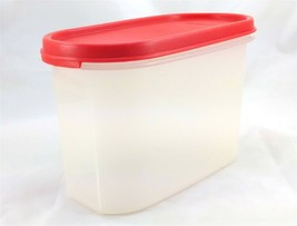 Tupperware 1612 Modular Mates Oval Container w/ Red 1616 Seal Made in th... - $13.45