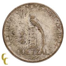 1925 Guatemala 1/4 Quarter Quetzal in VF Condition KM #240.2 - $75.74