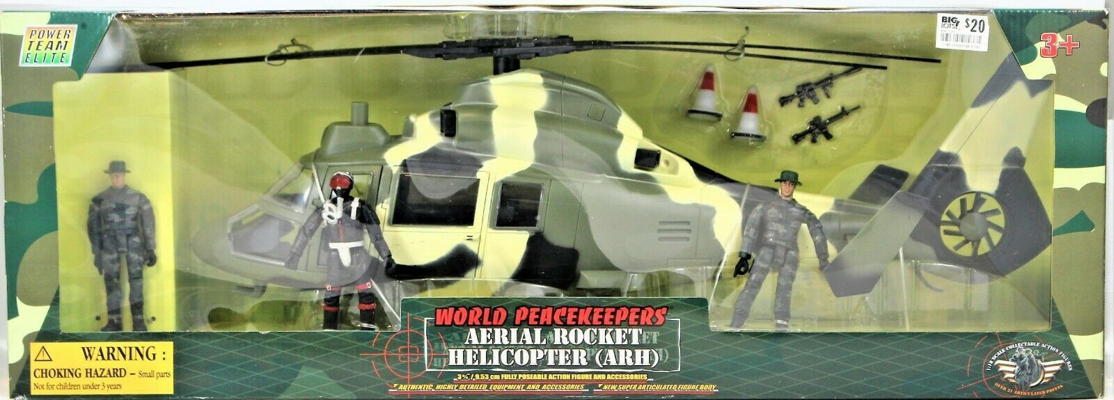 World Peacekeepers Power Team Elite Aerial Rocket Helicopter (ARH) 1:18 Scale