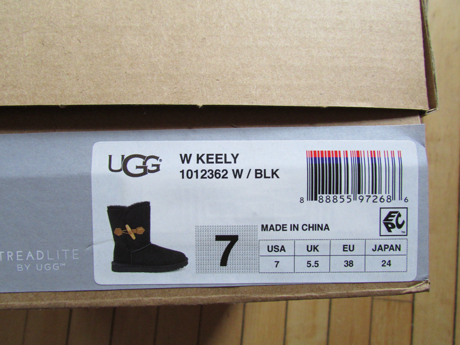 39064140839 UGG Boots Keely Toggle Black Shearling 7 NEW and 50 similar items
