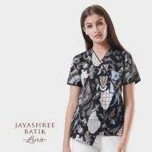 Jayashree Lyra Blouse Black Woman Batik Made in Indonesia - $59.00