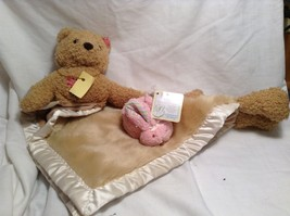 NEW Stephan Baby Two Piece Baby Blanket Set w Boo-Bunnie Ice Pk