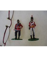 British Soldier Metal Figures English Officer Infantry Hand Painted Kear... - $33.54