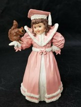 Maud Humphrey Bogart Winter Friends Figurine H5552 Girl Squirrel 1987 - $19.34