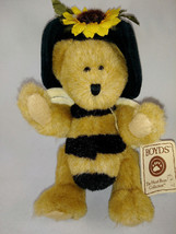 "Boyds Bears ""Mrs. Bumbley""  Brown Bear with Sunflower hat & wings  7"" ta... - $11.47"