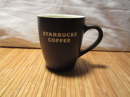2008 Starbucks Brown Matte White Lettering Coffee Mug Tea Cup 12 oz  - $14.99