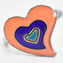 Kid's Fashion Silver Tone Heart Color Changing Fashion Adjustable Mood Ring image 4