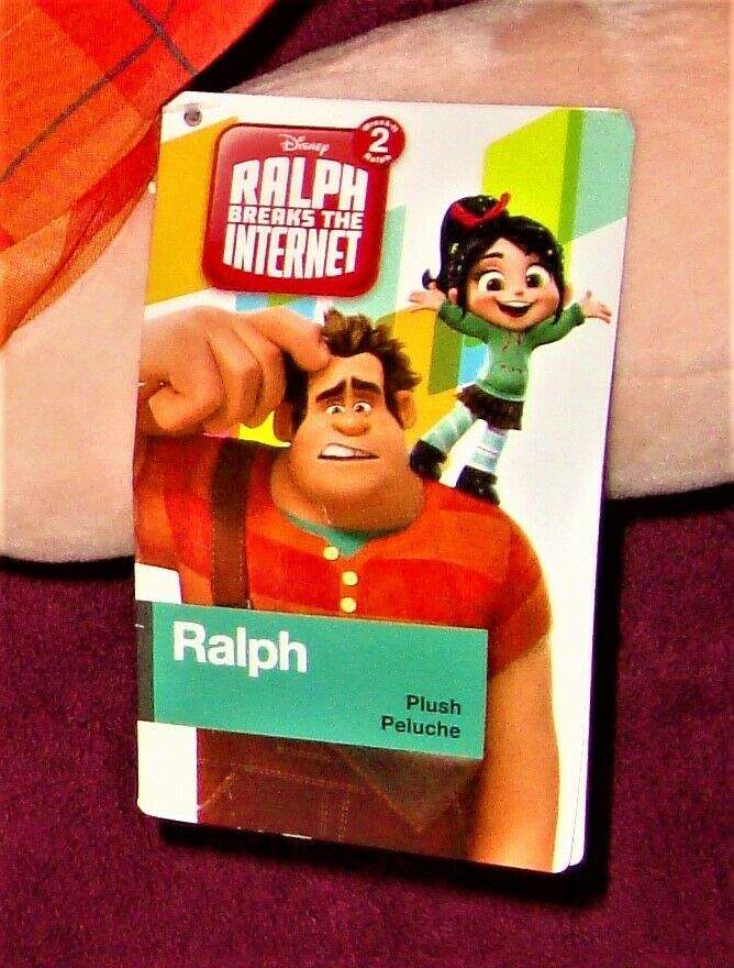 "Disney New With Tags Ralph Breaks The Internet 16"" X 12"" Stuffed Animal Plushie"