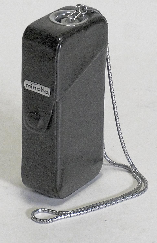 Minolta-16 MG in leather case, very nice 'spy-like' camera