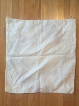 """Vintage 40s Crewel Embroidered Floral 22"""" Square Pillowcase #3091 image 5"""