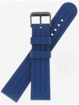 "Swiss Army Brand 22mm Blue Rubber Dive Master 500 Mechanical Watch Band ""004148"" - $125.00"