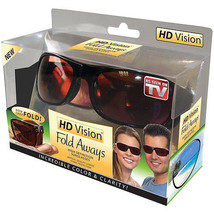 HD Vision Fold Aways High Definition Sunglasses NEW! - $9.85