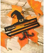 "Witch's Hat Bellpull 5"" 2pcs for Witches Night Out halloween cross stitc... - $21.00"