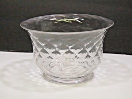 "Vintage Pairpoint Glass Bowl Clear Footed Quilted 4"" - $57.42"