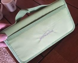 EDDIE BAUER Light Green Zippered Large  Travel Wallet #1 - $14.78