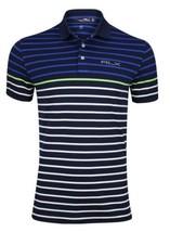 RLX Ralph Lauren PGA Tiger Golf Colorblock Monaco Club Stripe Polo Shirt... - $73.49