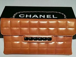 c18c90d5d135 Auth CHANEL Hand Bag Orange Matelasse Chocolate Bar Inner Pocket Enamel  B4372 - $722.70