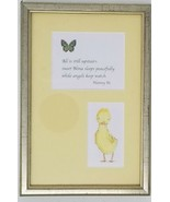 "Baby Nina framed print bedroom yellow artwork Nanny 9"" x 6.25"" chick but... - $10.88"