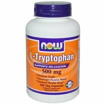 NOW Foods L-Tryptophan 500 mg - 120 Veg Capsules - $30.05