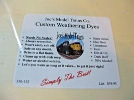 Joe's Model Trains #350-112 Joe,s Custom Weathing Dyes Kit (6 Colors) image 1