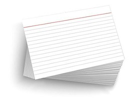 "50 Blank 4""x6"" Heavy Duty 14PT Ruled/Lined Postcards Index Cards - $10.95"