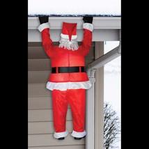 Gonflable Airblown Drôle Toit Suspendus Père Noël Extérieur Coudée Décor... - $98.96