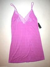 NWT New Designer Natori Medium M Purple Chemise Modal Lace Nightie Short... - $71.50