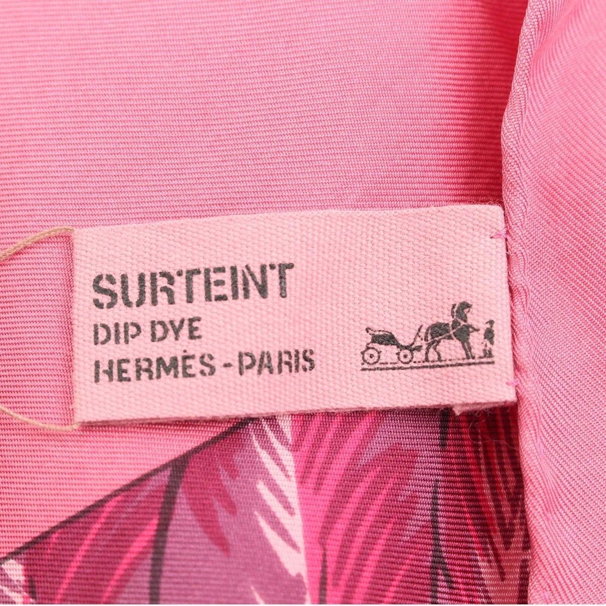 Hermes Shawl Stole Scarf BRAZIL Pink Silk Carre 140 DIP DYE Woman Auth Used Rare