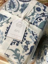 Pottery Barn Adya Duvet Cover Blue King Bhotah Suzani No Sham - $175.74