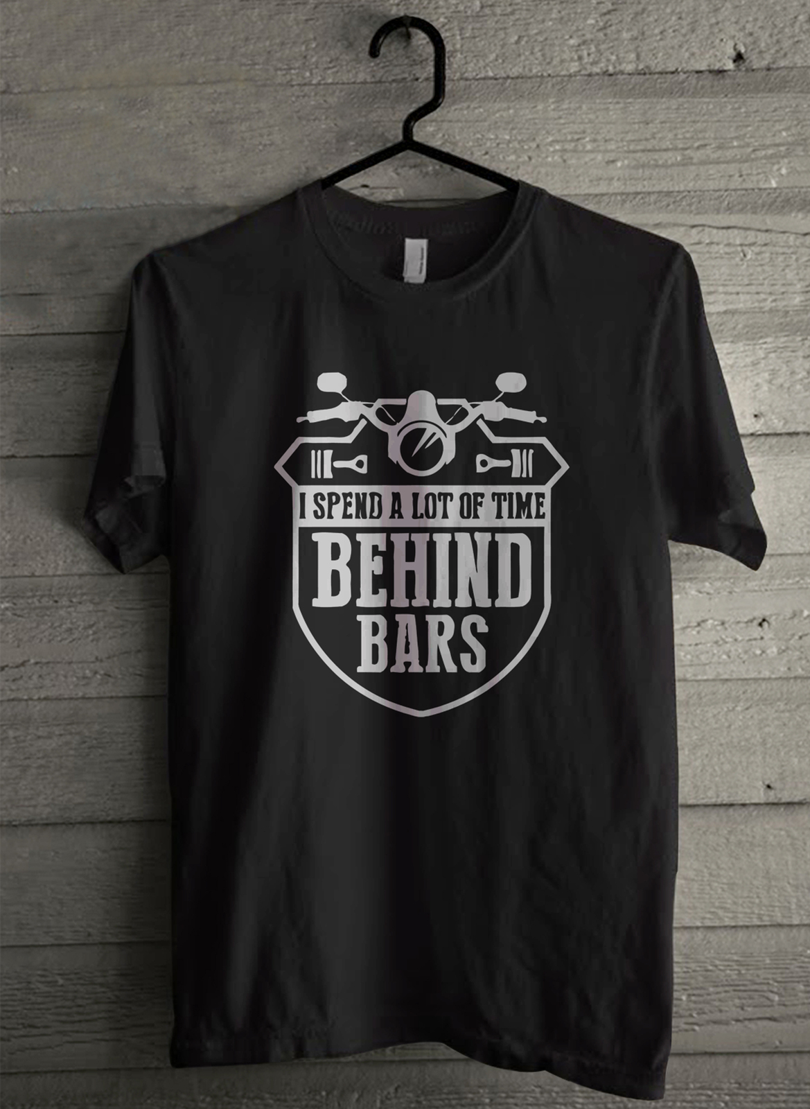 I spend a lot of time behind bars - Custom Men's T-Shirt (4146)