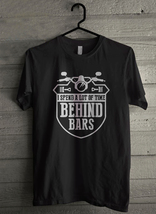 I spend a lot of time behind bars - Custom Men's T-Shirt (4146) image 1