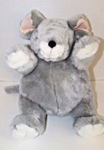 Unipak gray plush mouse Plumpee round pot belly pink ears white feet face  - $13.36