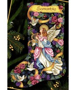 Dimensions Glad Tidings Angel Rose Dove Christmas Cross Stitch Stocking ... - $374.95