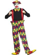 Geringelt Clown Kostüm, Big Top / Zirkus, Halloween, 96.5cm-102cm, Herren - $26.79